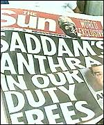 'Saddam's Anthrax In Our Duty-Frees', 25 March '98. Utter bollocks.