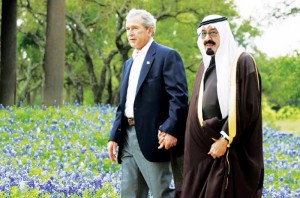 Bush and Abdullah.