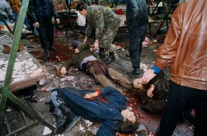 Sarajevo market bombed. What started here? (Patrick Chauvel, 5 February 1994).