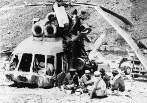 Islamists down Mi-8 in Afghanistan, 1988.